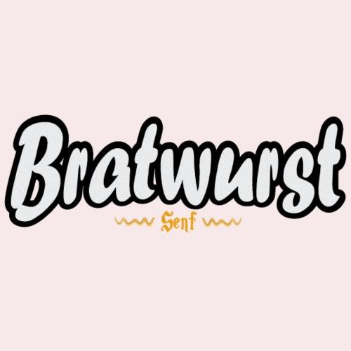 Lustiges Bratwurst mit Senf Geschenk Shirt - Männer Premium T-Shirt