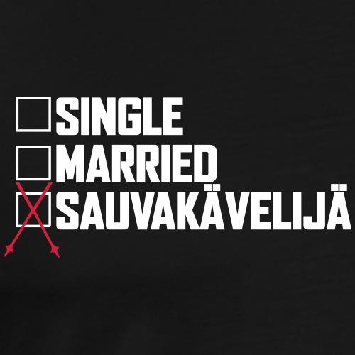 Sauvakävelijä - Miesten premium t-paita