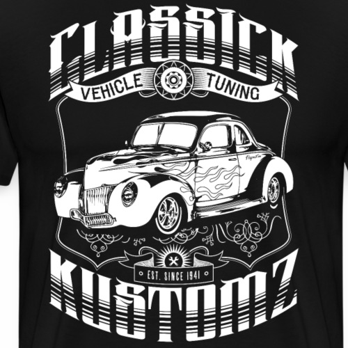 Hot Rod - Classick Kustomz (white) - Men's Premium T-Shirt
