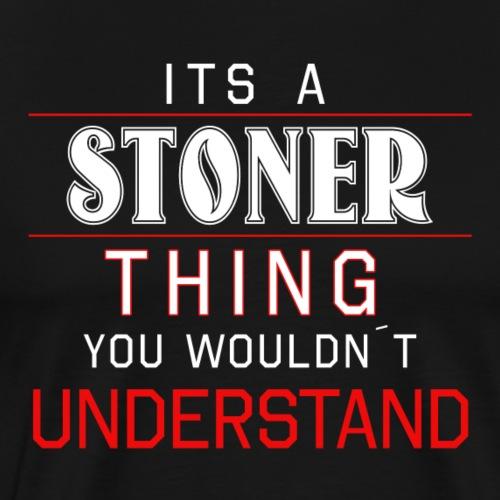 Stoner Weed Kiffer Cannabis THC Hemp Gift - Men's Premium T-Shirt