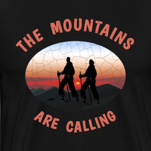 Skifahrer The mountains are calling T-Shirt - Männer Premium T-Shirt