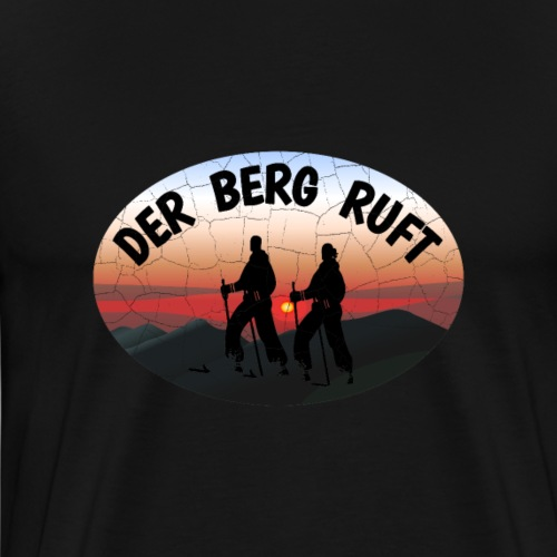 Skifahrer Der Berg ruft retro T-Shirt Geschenkidee - Männer Premium T-Shirt