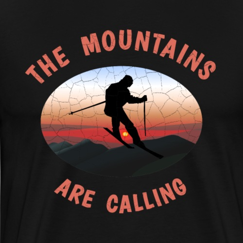 Skifahren The Mountains are calling T-Shirt gift - Männer Premium T-Shirt