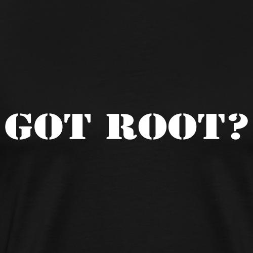 GOT ROOT? - Premium-T-shirt herr