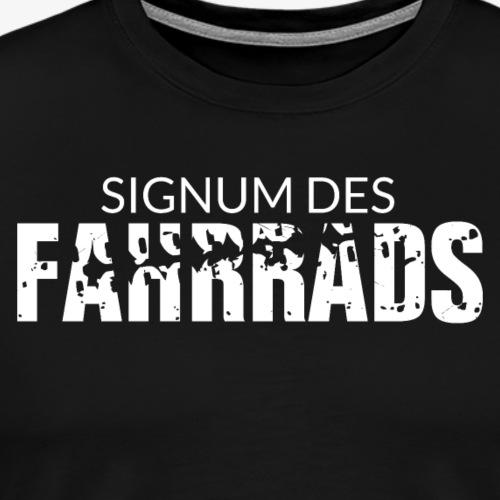 Signum des Fahrrads - Schriftzug - Männer Premium T-Shirt
