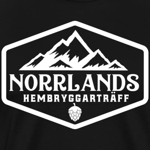 Norrlands hembryggarträff white print - Premium-T-shirt herr