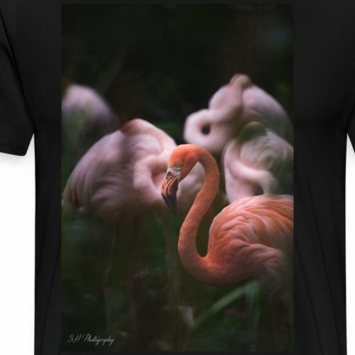 Flamingo - Premium-T-shirt herr