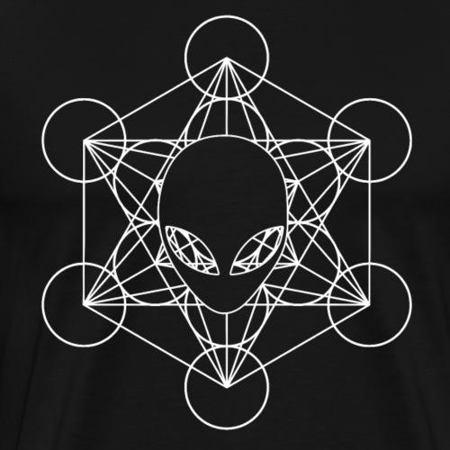 Metatrons Würfel Alien - Männer Premium T-Shirt