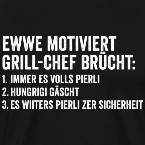 MOTIVERTER GRILL-CHEF - Männer Premium T-Shirt