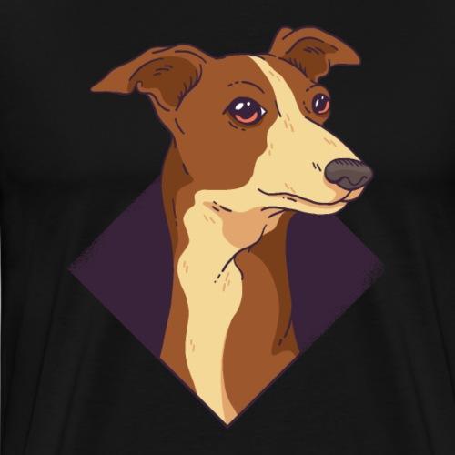 Whippet Hund. Windhund - Männer Premium T-Shirt
