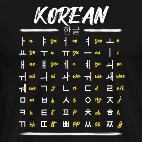Koreanisch Lernen Hangul Schriftzeichen
