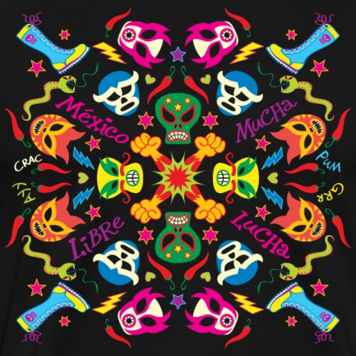 Lutteurs mexicains prêts à se battre et s'amuser - Men's Premium T-Shirt