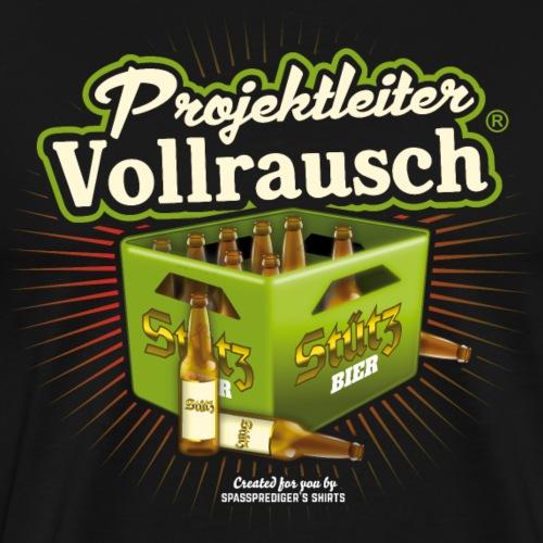 Stützbier T-Shirt Projektleiter Vollrausch® - Männer Premium T-Shirt