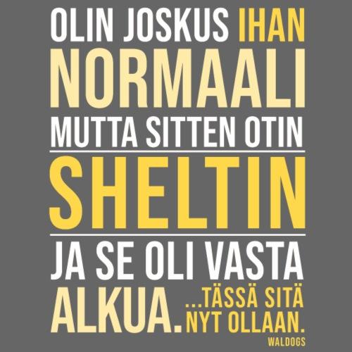 Vasta Alkua Sheltti - Miesten premium t-paita