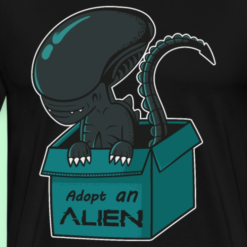 adopta un alien - Camiseta premium hombre