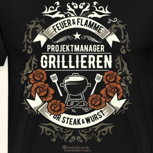 Grill Design Projekmanager Grillieren - Männer Premium T-Shirt