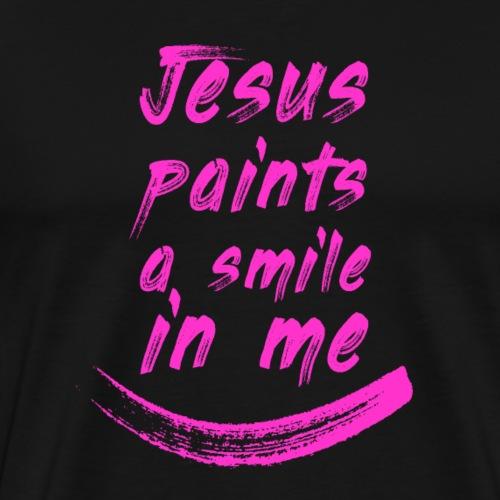 Jesus paints a smile in me R - Maglietta Premium da uomo
