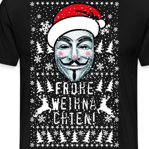 56 Anonymous Frohe Weihnachten Rentiere - Männer Premium T-Shirt