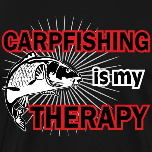 Carpfishing is my Therapy - Männer Premium T-Shirt
