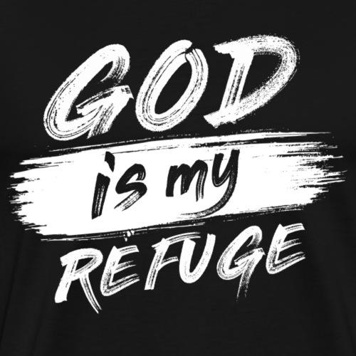 God is my refuge B - Maglietta Premium da uomo