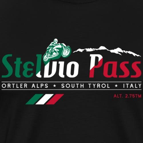 Stelvio Pass T Shirt Design 02 - Men's Premium T-Shirt