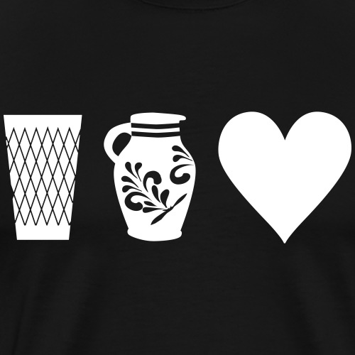 Geripptes Bembel Love - Männer Premium T-Shirt