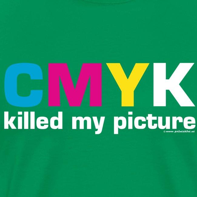 killed my picture dunkle Textilien PRINTSHIR