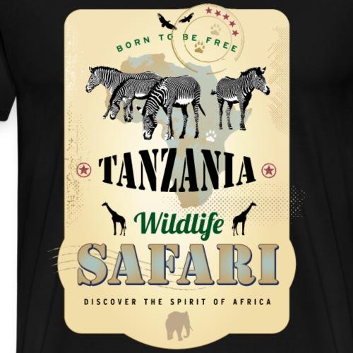 Zebras Wildlife Safari Tanzania Afrika Abenteuer - Men's Premium T-Shirt