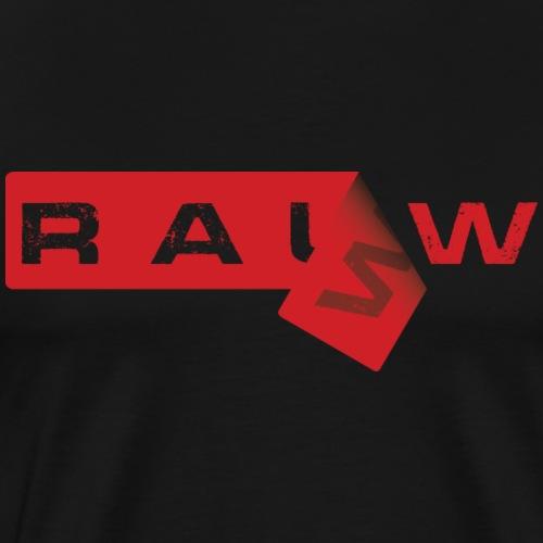 Rauw Sticker - Mannen Premium T-shirt