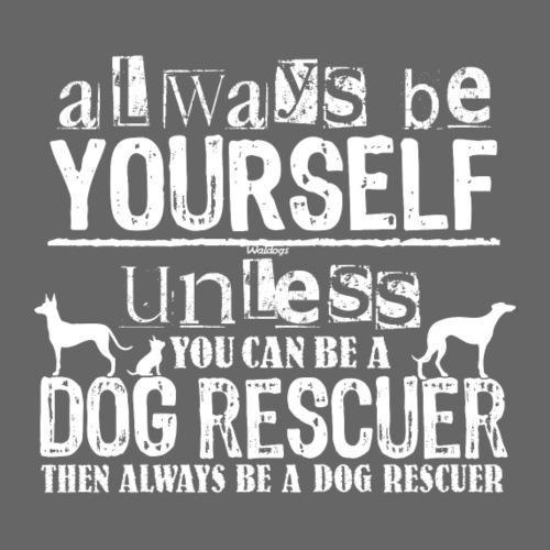 Dog Rescuer White - Miesten premium t-paita