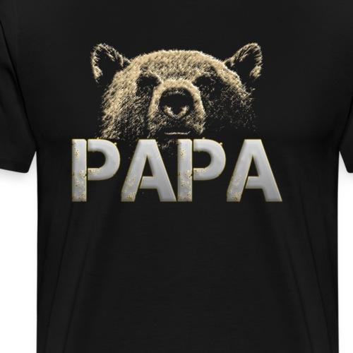 Papa Bär - Papa - Bär - Stolzer Papa - Männer Premium T-Shirt