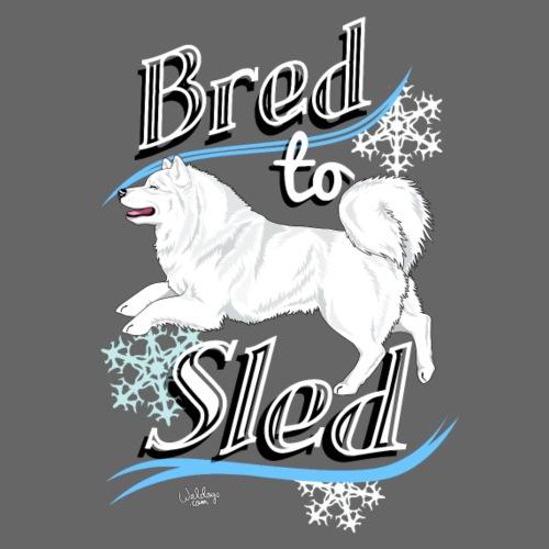 Samoyed Sled - Miesten premium t-paita