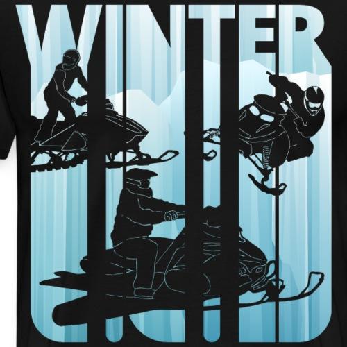 Vintage Winter Snowmobile. Sports gifts. Christmas - Men's Premium T-Shirt