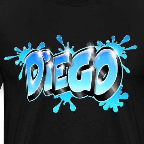 Graffiti prénom Diego - T-shirt Premium Homme