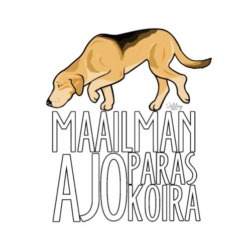 Venäjänajokoira Paras - Miesten premium t-paita