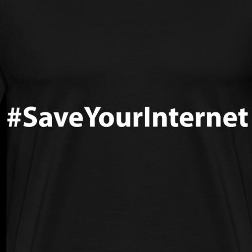 #SaveYourInternet - Männer Premium T-Shirt