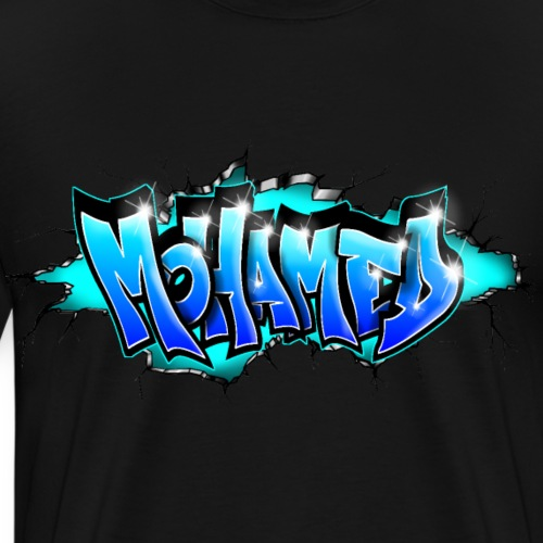GRAFFITI MOHAMED BLUE PRINTABLE - T-shirt Premium Homme