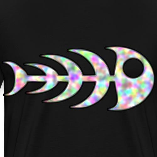 fisk ben i regnbåge färger - Premium-T-shirt herr