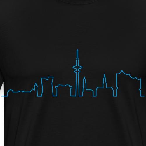 Skyline von HAMBURG - Maglietta Premium da uomo