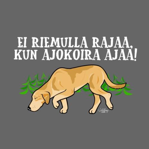 Venäjänajokoira Riemu - Miesten premium t-paita