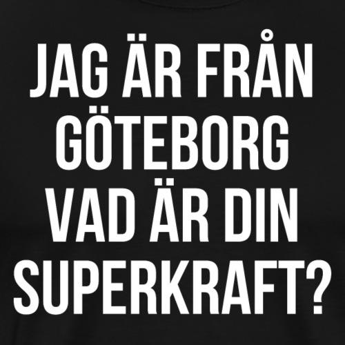 Superstaden Göteborg - Premium-T-shirt herr