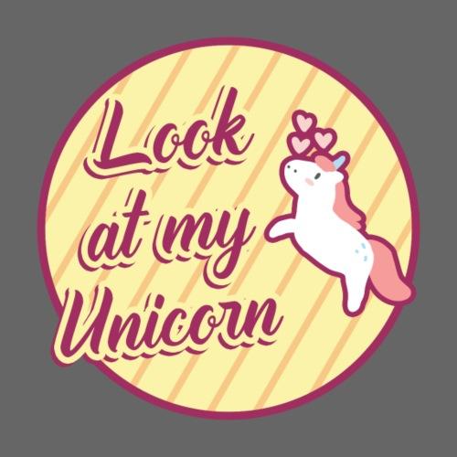 Schau! Mein Einhorn   süß Fohlen Baby Einhörner - Männer Premium T-Shirt