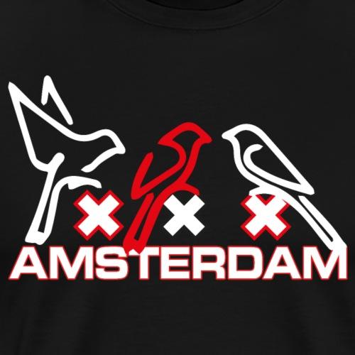 Amsterdam birds - Mannen Premium T-shirt