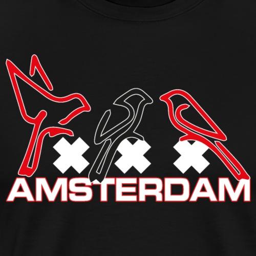 Amsterdam birds rbr - Mannen Premium T-shirt