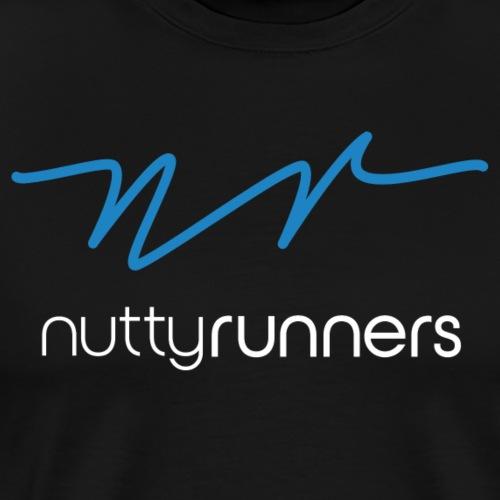Nutty Runner - Blue and white Logo - Men's Premium T-Shirt
