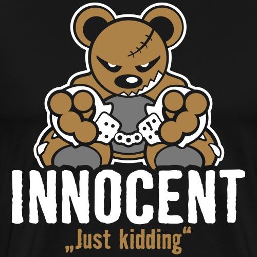Teddy »Innocent« - Black - Männer Premium T-Shirt