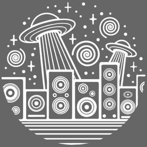 UFO SPIRAL ALIEN SPEAKER TEKNO 23 - Men's Premium T-Shirt