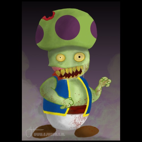 SuperMario: Zombie Toad - Mannen Premium T-shirt