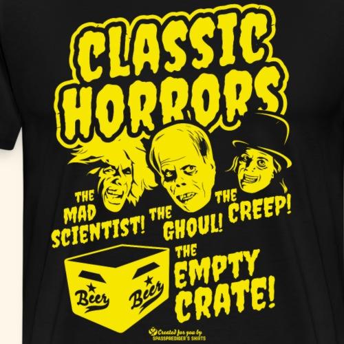Bier Design Classic Horrors | Geek T-Shirts - Männer Premium T-Shirt