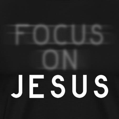 Focus on Jesus - Fokus auf Jesus - Männer Premium T-Shirt